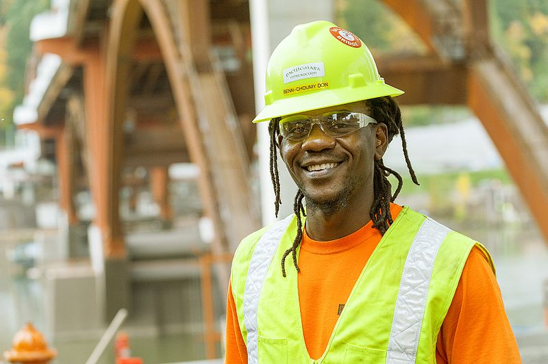 Photo of African-American Construction Apprentice